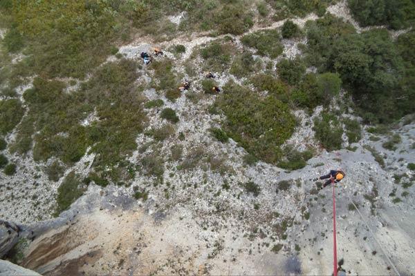 Rappel Mont Gaussier St rémy de Provence